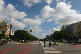 The biggest avenue in Buenos Aires - Wandering Life