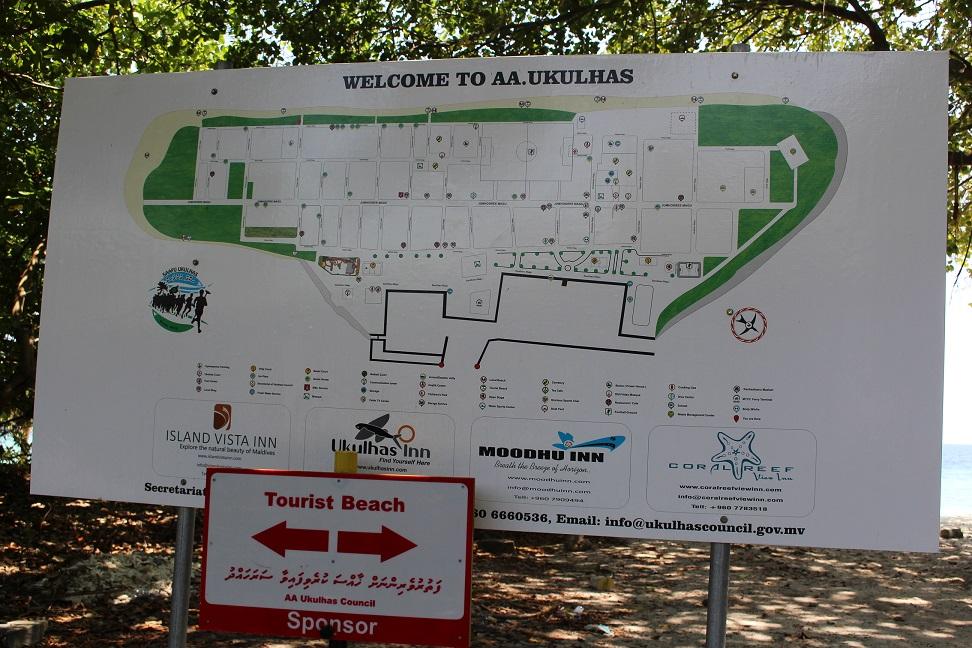 Mapa da ilha de Ukulhas