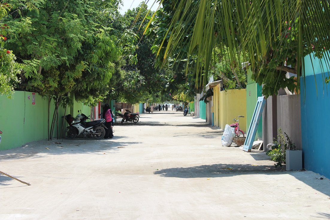 Rua principal da ilha de Ukulhas