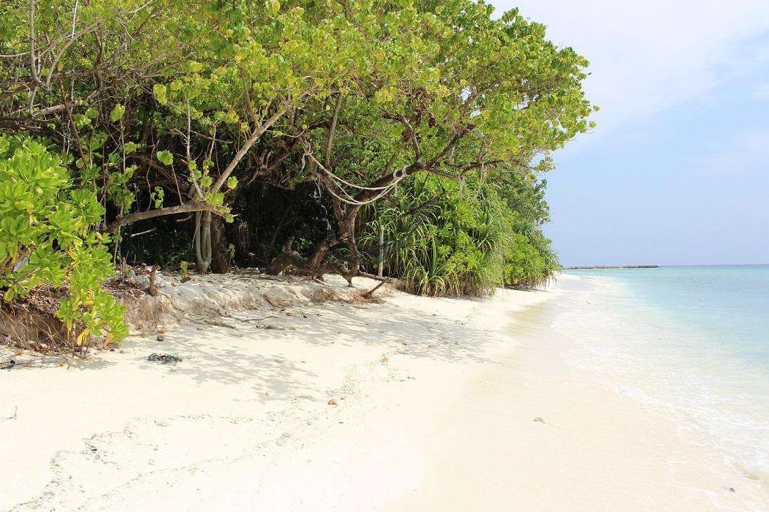 Praia da ilha de Ukulhas