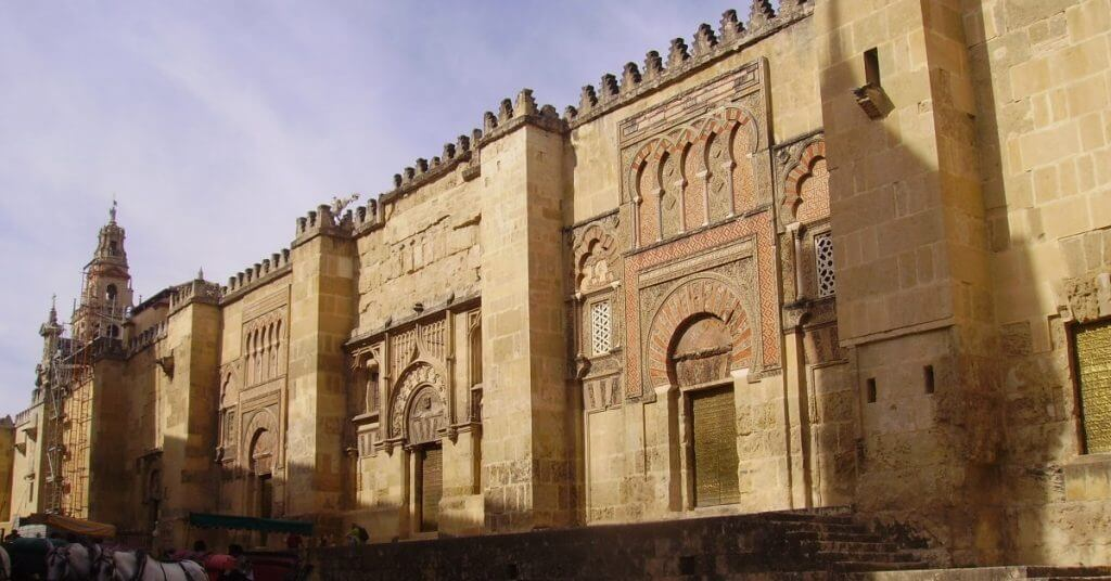 Detail of the facade of the Mosque-Cathedral, Cordoba, Spain