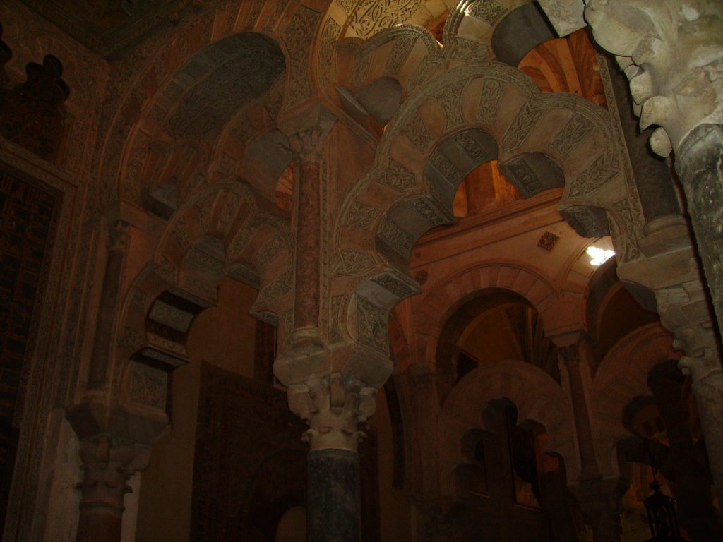 Detail of the interior of the Mosque-Cathedral, Cordoba, Spain