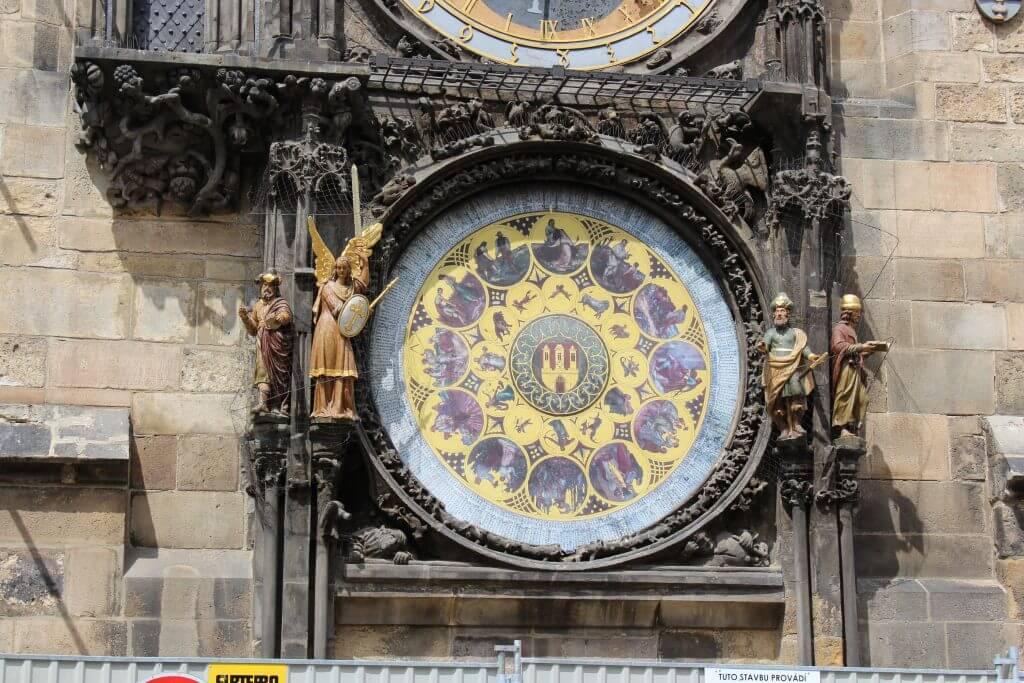 Relógio astronómico na antiga Câmara Municipal viagem praga