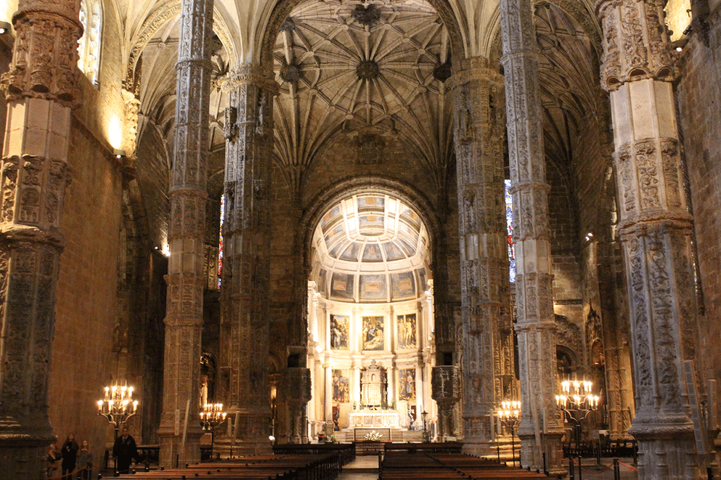 Monastery of Jerónimos interior, Portugal