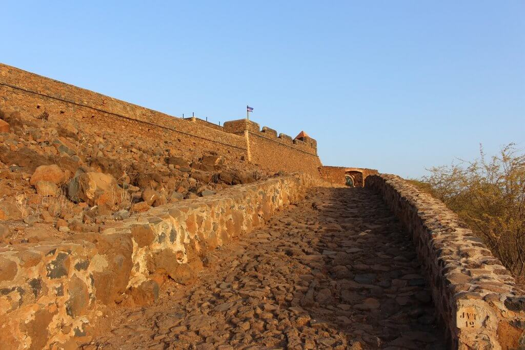 Forte Real de São Filipe, ilha de Santiago, em Cabo Verde