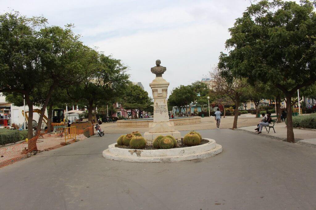 Praça Alexandre Albuquerque, na Praia, ilha de Santiago, Cabo Verde