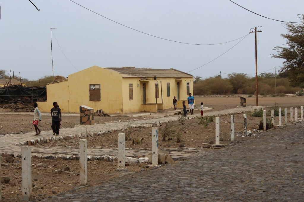 Old guards houses, Santiago island, Cape Verde