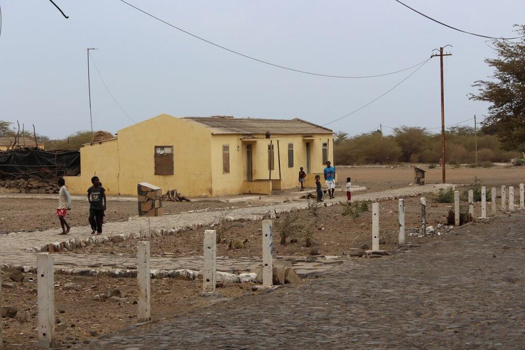 Antigas casas dos guardas, ilha de São vicente, Cabo Verde