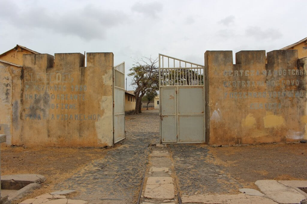 Entrance of the Tarrafal Concentration Camp, Santiago island, Cape Verde