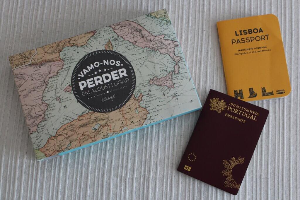 Recordações de viagem e passaportes