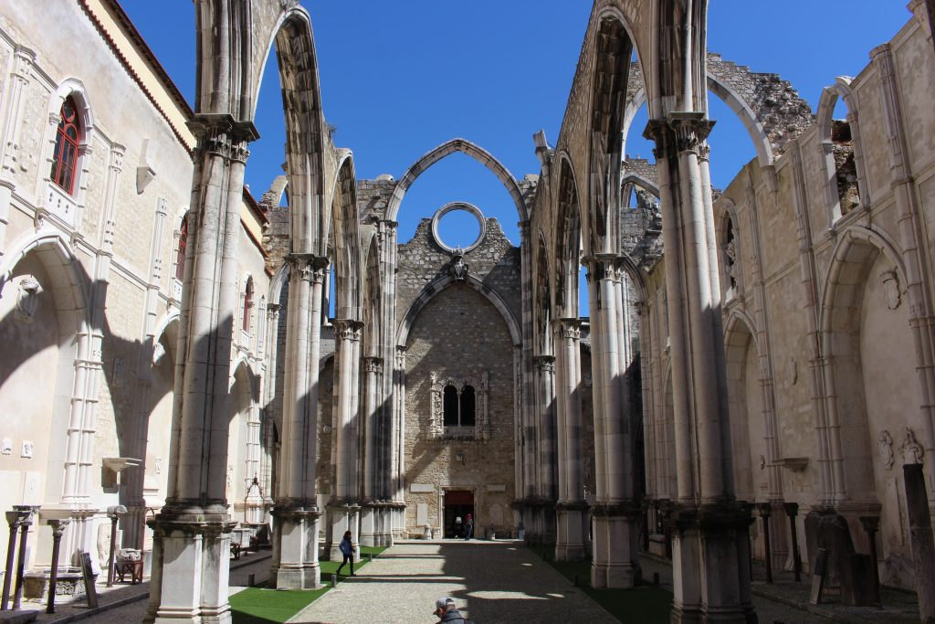 Interior of Carmo Church, Lisbon, Portugal