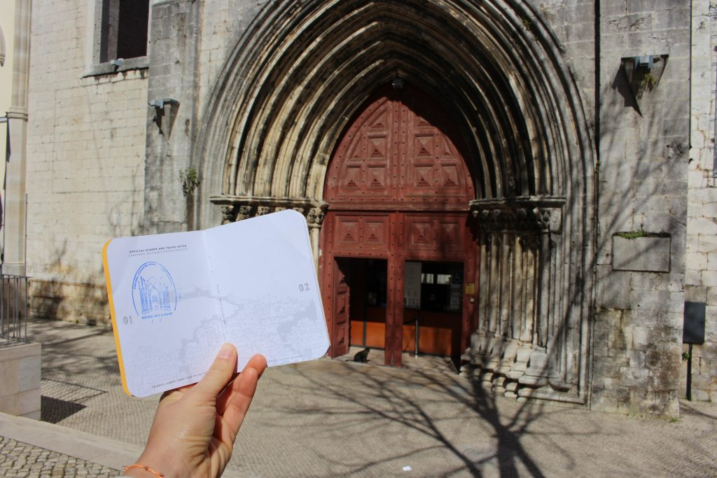 Lisbon Passport with the stamp of Carmo church, Lisbon, Portugal