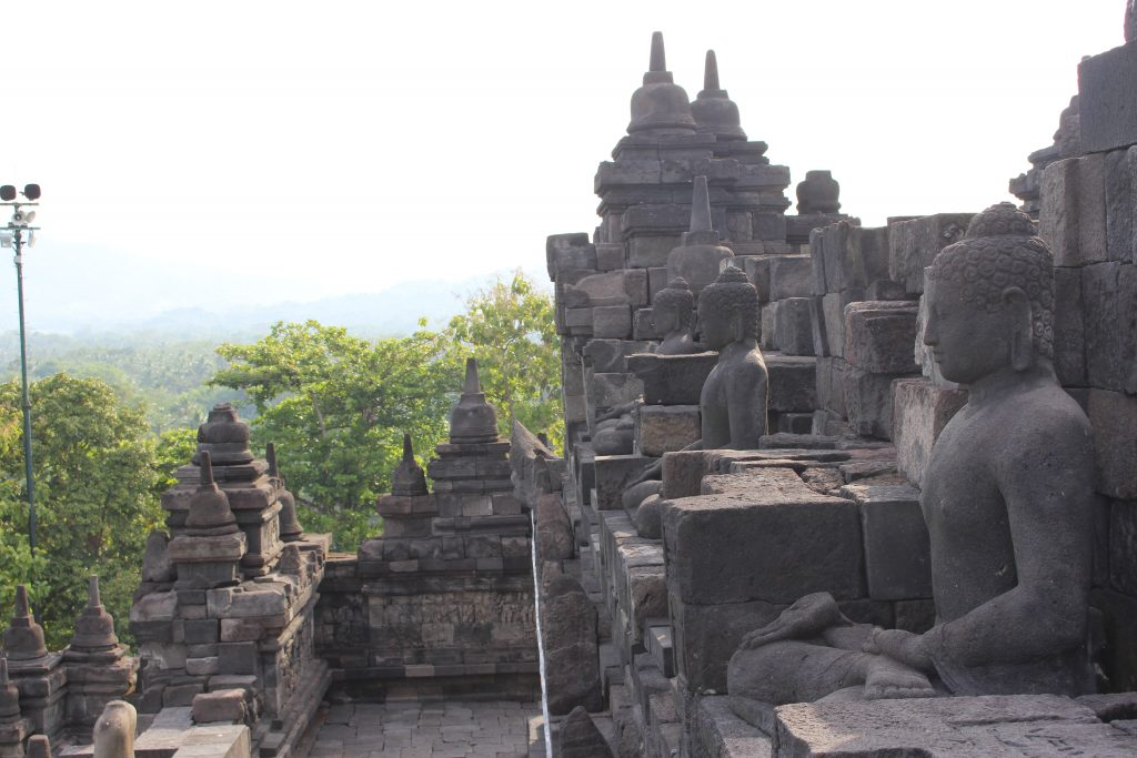 2º patamar de Borobudur, Java, Indonésia