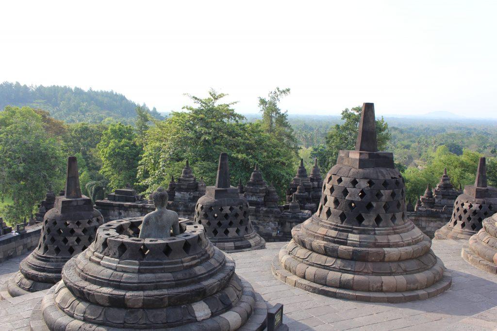 Topo de Borobudur, Java, Indonésia