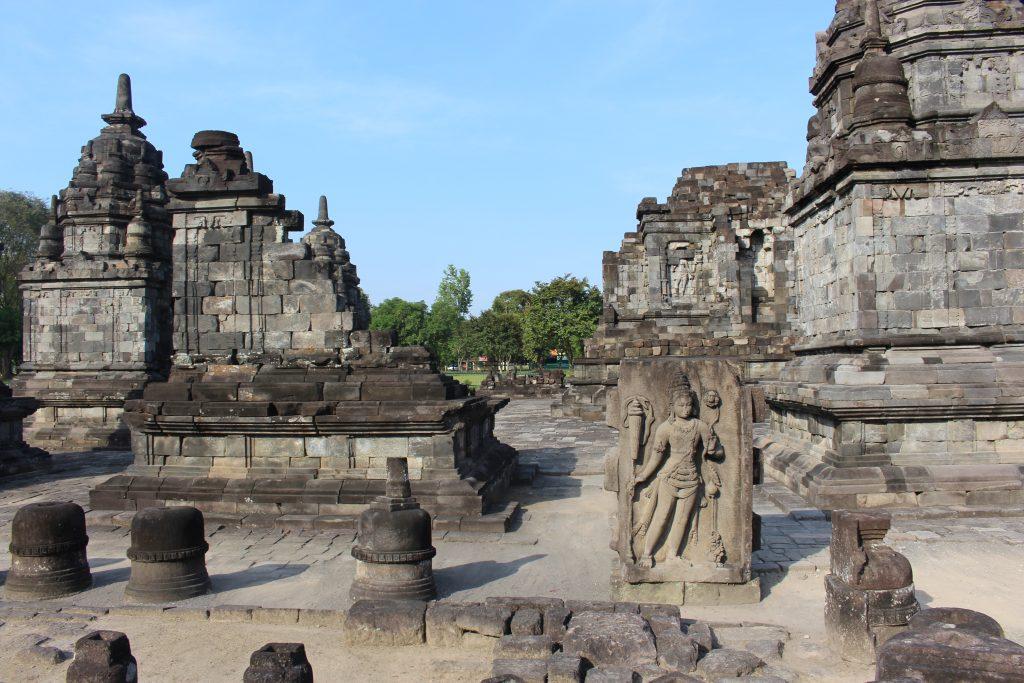 Templo Lumbung no Prambanan, Java, Indonésia