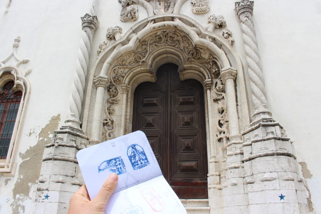 Lisbon Passport with the stamp of the National Tile Museum