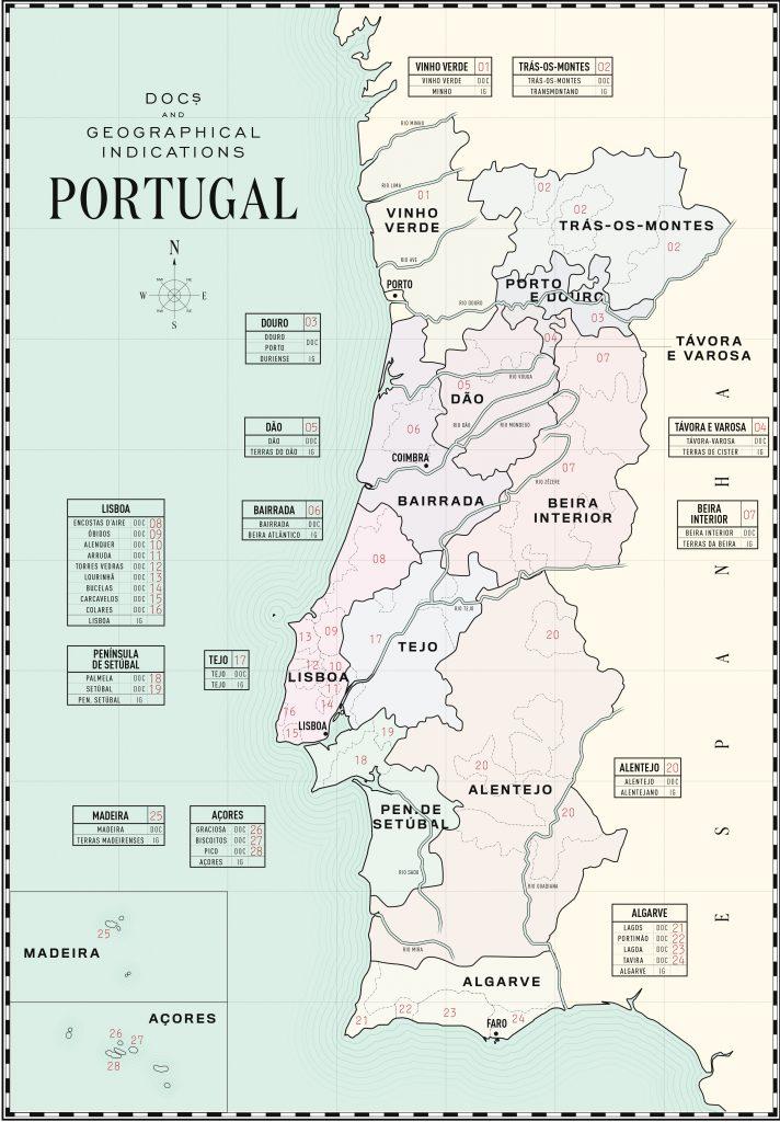 Regiões vitivinícolas (Fonte: Wines of Portugal)