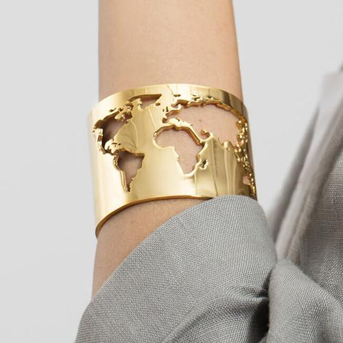 World cuff - World inspired jewelry (Source: Cristina Ramella)