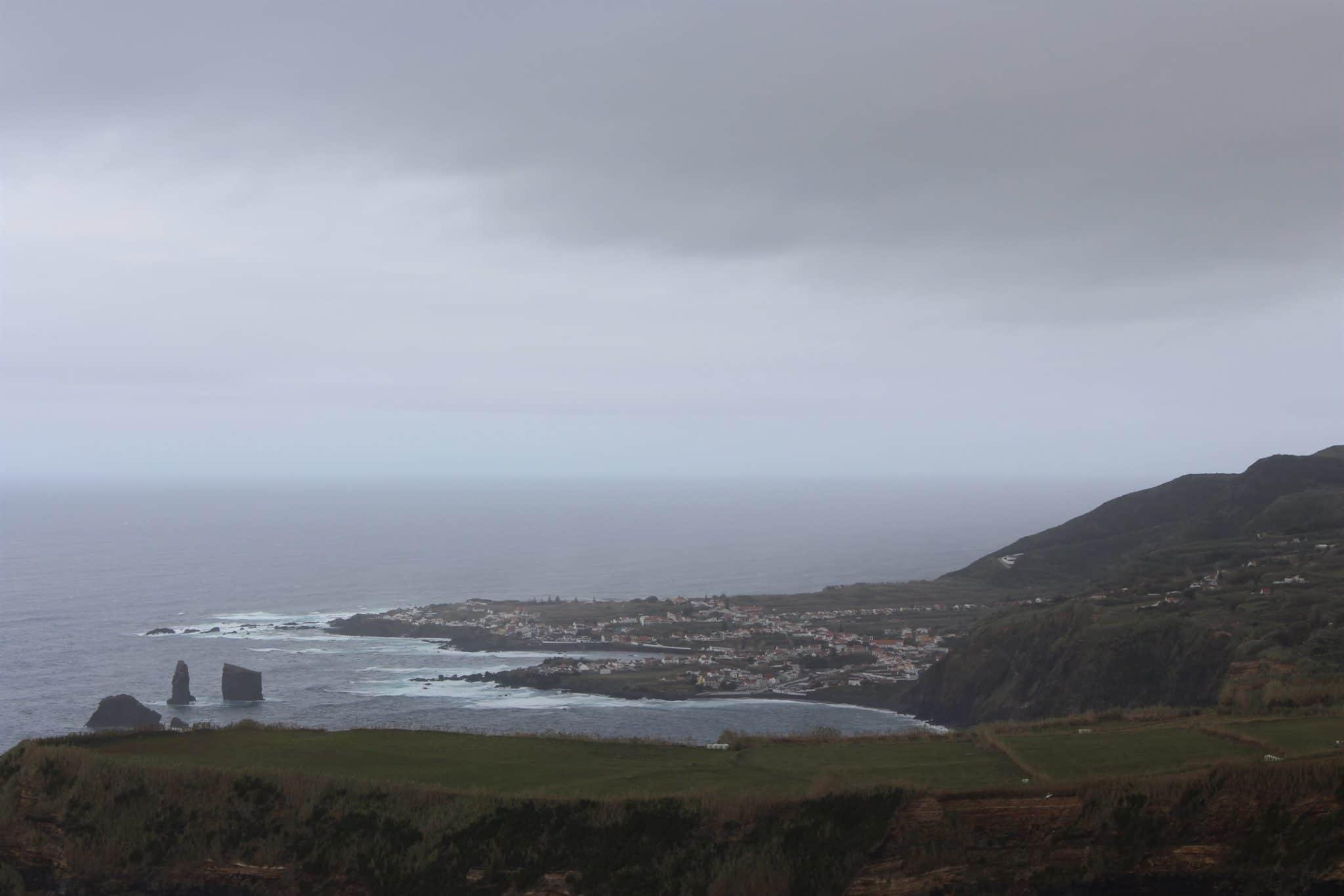 Vista a partir da Ponta do Escalvado, S. Miguel, Açores