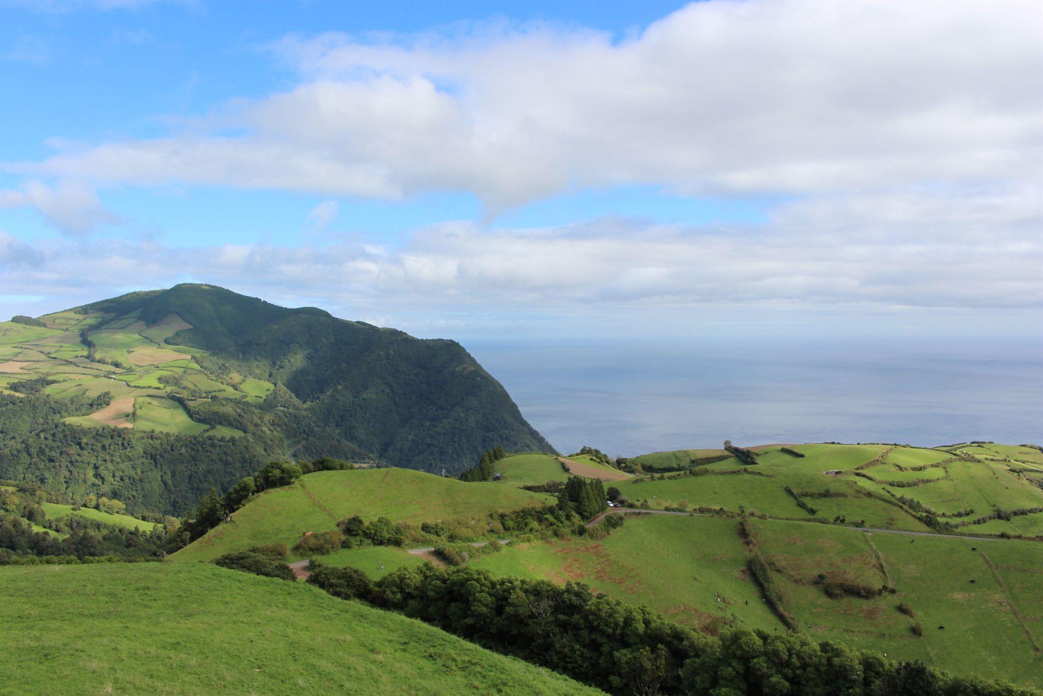 Vista a partir do Miradouro do Castelo Branco, S. Miguel, Açores