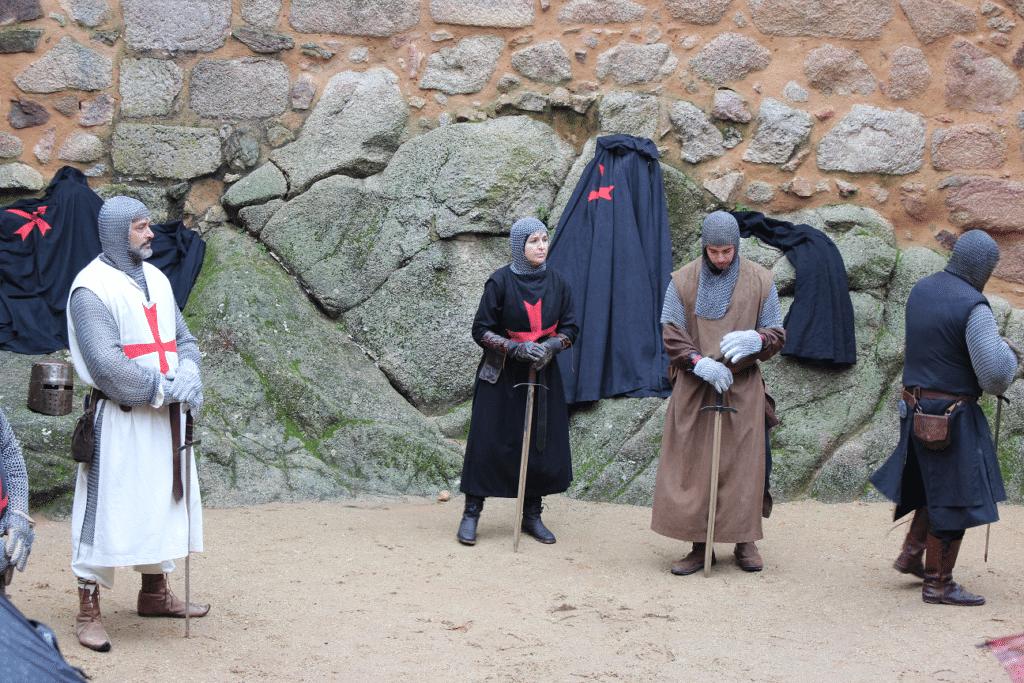 Demonstração de combate medieval no Castelo de Almourol