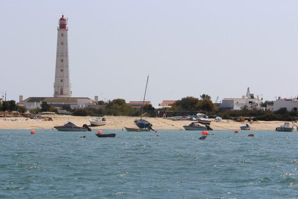 Farol do Cabo de Santa Maria na ilha do Farol/Culatra viagem a olhão