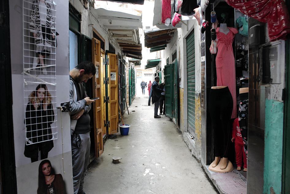 Habitantes na Medina de Tétouan
