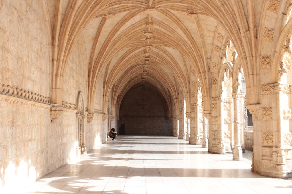 Pormenor dos claustros do Mosteiro dos Jerónimos