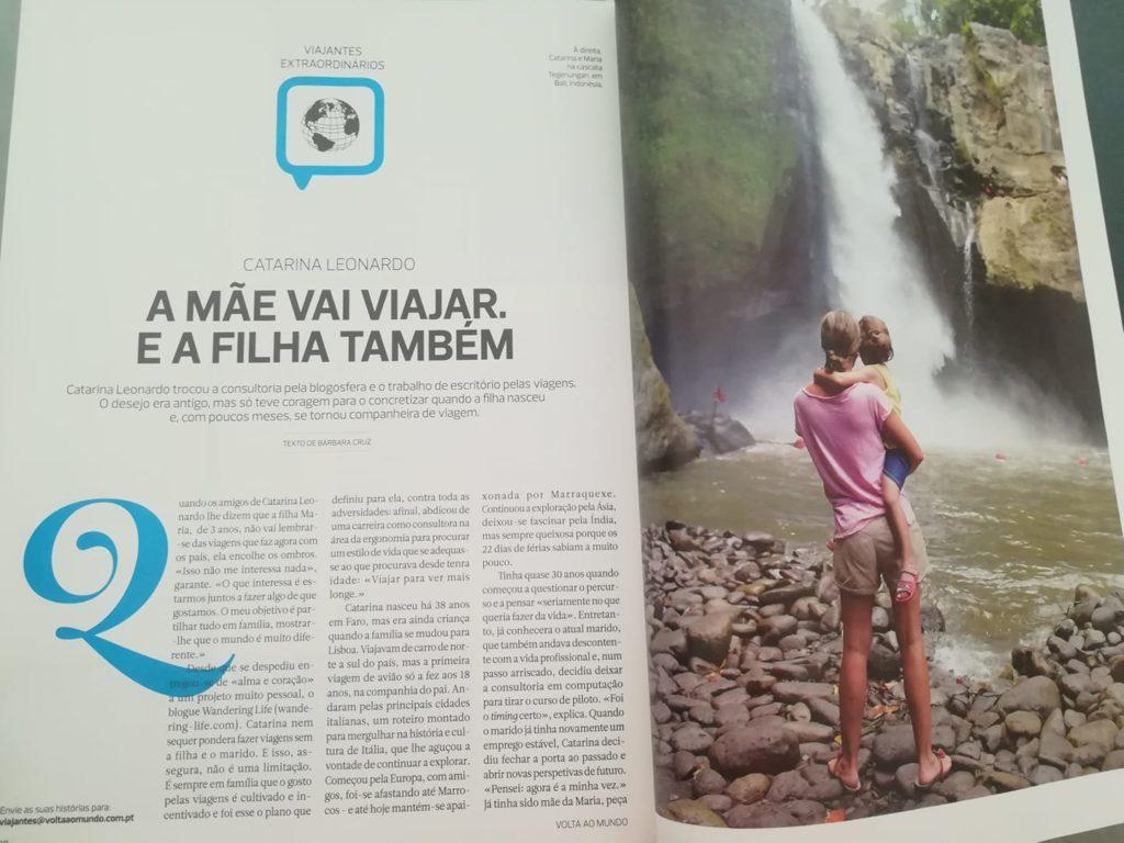 Na Revista de viagens Volta ao Mundo