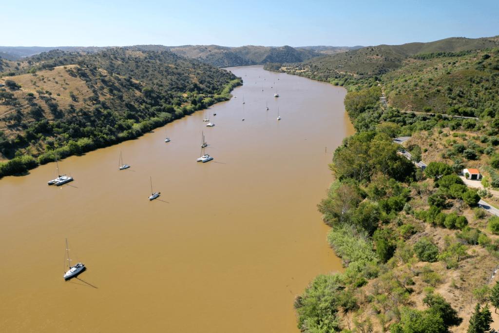 Barcos no Rio Guadiana
